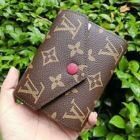 LV Louis Vuitton Women Shopping Leather Handbag Tote Wallet Purse Tagre™