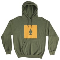 Happy Little Tree Pull-Over Terry Hoodie Sweatshirt by Altru Apparel