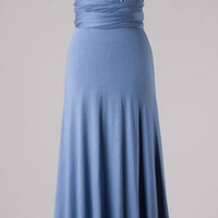 40 Styles in One Maxi Dress - Blue