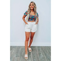 Check It Off Cropped Top: Multi
