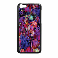 Lush Floral Pattern Beaming Orchid Purple iPhone 5c Case