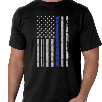 Thin Blue Line Cool Man T-Shirt