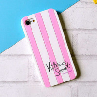 Victora's secret pink iPhone8, a striped silicone case with an iPhone6plus
