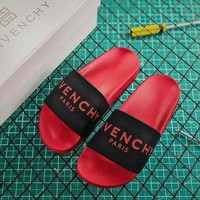 Givenchy Paris Sandals In Rubber Black Red - Best Online Sale