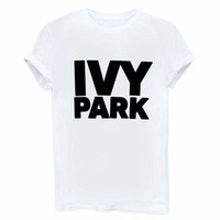 DCCK7XP IVY PARK Women'S Letters Printed Round Neck Short-Sleeved T-Shirt