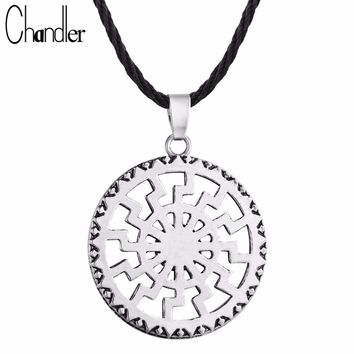 Chandler Raven Odin Crow Runes Thor Hammer Mjolnir Pendant Necklaces For Women Men Viking Antique Silver Plated Retro Accessary