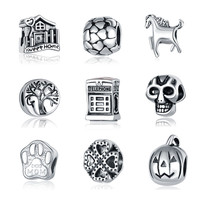 Fits Pandora Bracelet Sweet Home Life Tree Charms Beads European Original Silver Plated Charm For Women DIY Jewelry Accessories