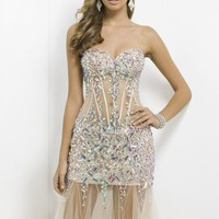 Embellished Sweetheart Net by Blush by Alexia