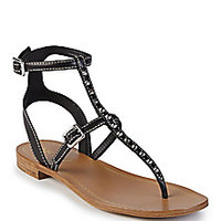 Prada - Studded Leather Thong Sandals - Saks Fifth Avenue Mobile