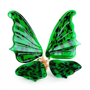 """Glass Butterfly Insects Figurine 4"""""""