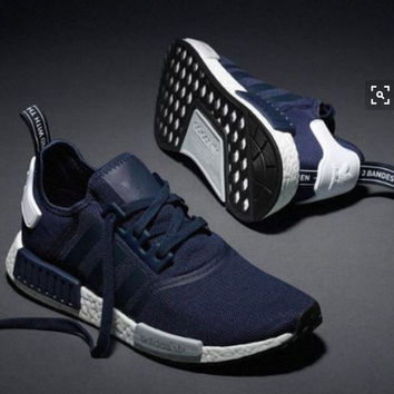"""Women """"Adidas"""" NMD Boost Casual Sports Shoes Navy blue"""