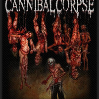 Cannibal Corpse Sew On Patch Torture Bodies Logo