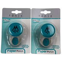 Paper Punch Bells 987A Craft Border System Compatible Tonic Studios Lot 2 Medium
