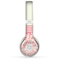 The Pink & Tan Polka Dot Pattern V1 Skin for the Beats by Dre Solo 2 Headphones