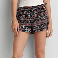 AEO Printed Soft Shortie, Black