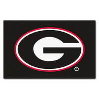 Georgia Bulldogs NCAA Ulti-Mat Floor Mat (5x8') G Logo on Black