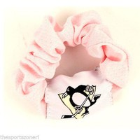 Pittsburgh Penguins Pink Hair Twist Scrunchie Set of Two