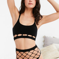 Out From Under Exploded Fishnet High-Waisted Panty | Urban Outfitters