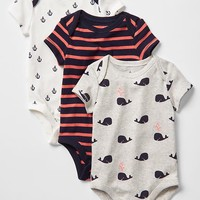 Nautical short-sleeve bodysuit (3-pack) | Gap