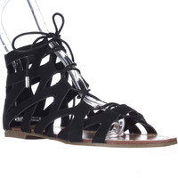 G by GUESS Lookie Lace-Up Gladiator Sandals - Black
