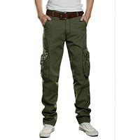 New Brand Mens Military Cargo Camouflage Pants Multi Pockets Baggy Men Pants Casual Tactical Trousers Overalls Army Work Pants