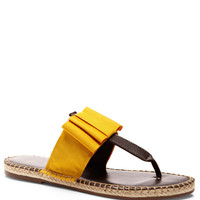 Grosgrain and Leather Thong Sandals by Escadrille - Moda Operandi