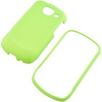Neon Green Rubberized Hard Faceplate Cover Phone Case for Samsung Brightside U380