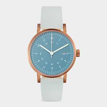 Blue And Rose Gold Horizon Watch | MoMA