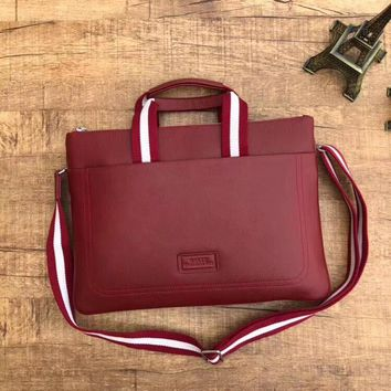BALLY MEN'S NEW STYLE LEATHER BRIEFCASE BAG CROSS BODY BAG
