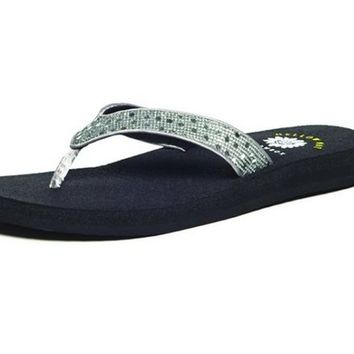 Yellow Box Tatiana Pewter Flip Flops