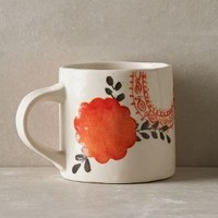 Sun Grove Mug by Anthropologie in Orange Size: Mug Mugs