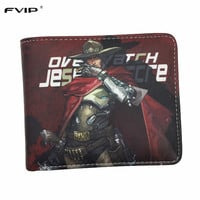 FVIP Anime Game Wallet Overwatch Wallets MCCREE /TRACER/GENJI/HANZO 22 Heroes New Design Purese With 6 Card Holders