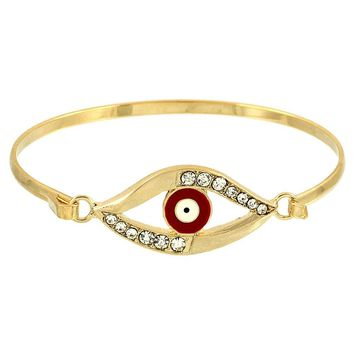 Evil Eye Protection Bracelet - Gold and Red