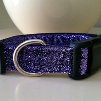 Dog Collar- Purple Glitter