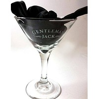 Set of 3 Jack Daniels Gentleman Jacks Martini/Cocktail Glasses