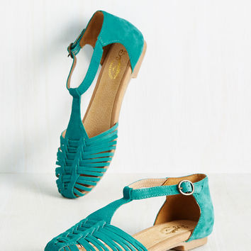 Into Thin Air Flat in Lagoon | Mod Retro Vintage Flats | ModCloth.com