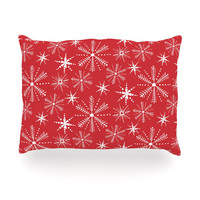 """Julie Hamilton """"Snowflake Berry"""" Holiday Oblong Pillow"""