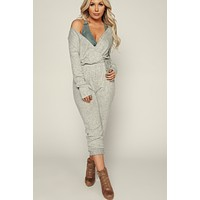 Sleek All Day Jumpsuit (Heather Grey)