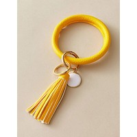 1pc Tassel Charm PU Bangle