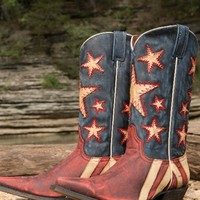 Ol' Dixie Boot - Vintage Red & Blue