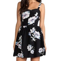 Joie Latelle Tossed Bouquet Dress in Black