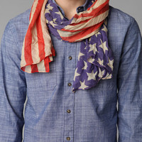 Urban Outfitters - Lightweight Stars 'N' Stripes Scarf