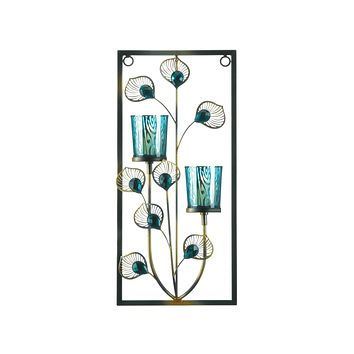 Candle Wall Sconces Peacock Two Candle Wall Sconce