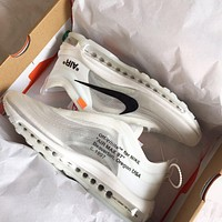 Nike OFF WHITE Air Max 97 the ten Fashionable and casual sports shoes
