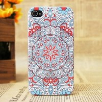 Plastic Protective Color Print Phone Hard Case Cover for Iphone 4 4S,National Style 6