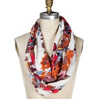 Multi Floral Infinity Scarf