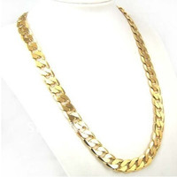Factory Price 24inch 10mm 18K GP Yellow Gold Plated Men Chain Necklace African Classic Jewelry = 1651174276