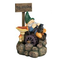 On Strike Gnome Water Fountain