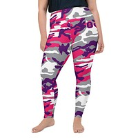 Theta Pink Camo Leggings - plus