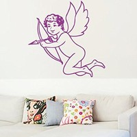 Wall Vinyl Sticker Decal Cupid with Bow Nursery Room Nice Picture Decor Mural Hall Wall Ki650